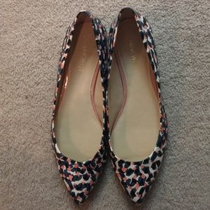Nine west print pointed shoes